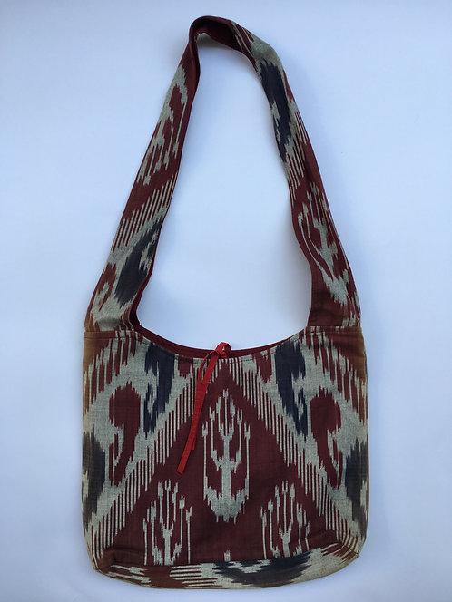 Uzbek Cotton Ikkat Shoulder Bag