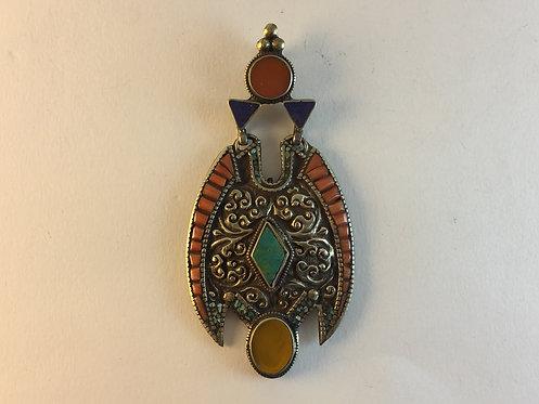 Tibetan Silver Pendant From Nepal