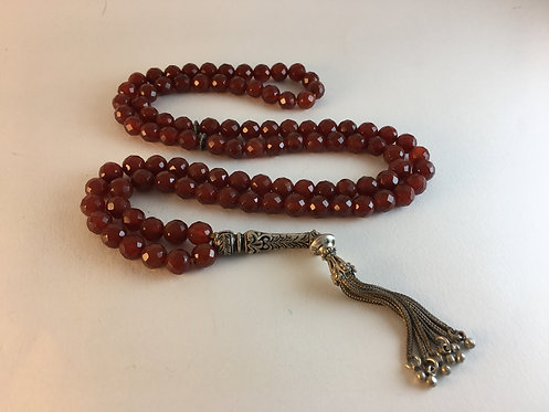 Faceted King's Agate 99 Prayer Bead