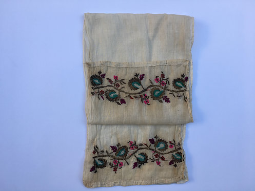 Hand Embroidered Antique Ottoman Cotton Peshkir Towel
