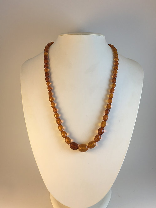Faceted Natural Amber Necklace