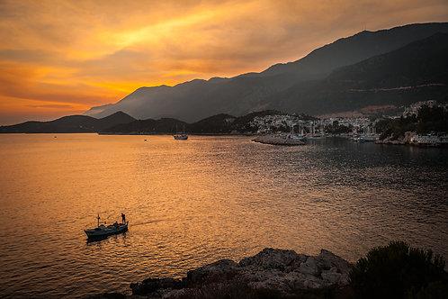 """Postcard """"Kaş, Sunset"""""""