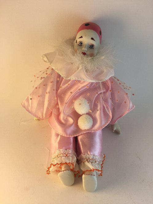 Ceramic Face&Hands Clown Doll