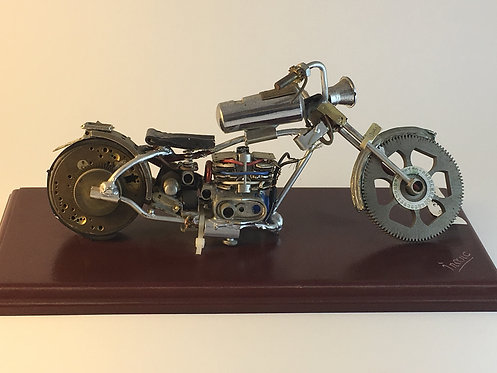 Yamaha Motorcycle Made of Old Watch Parts