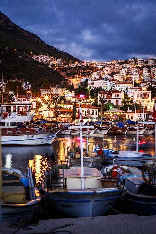 Kaş Marina at Night