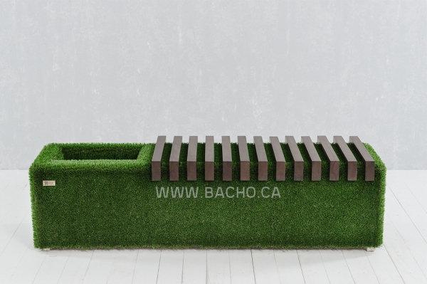 Sherwood Bench with an niche, Dark - 0.49 x 1.75 x 0.50