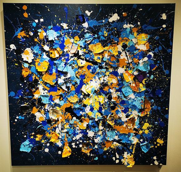 SOLD! Emotional By Nitra Art  - 120 x 120 cm