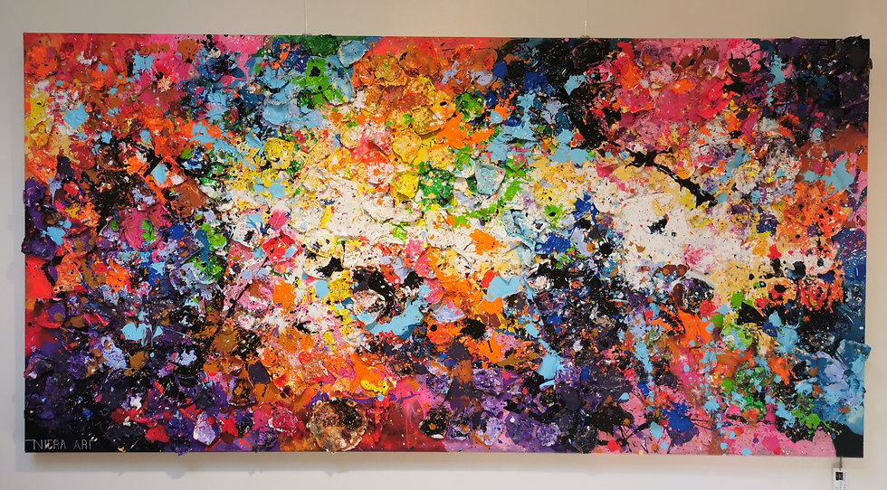 Abstract Flowers - 200 x 100 cm