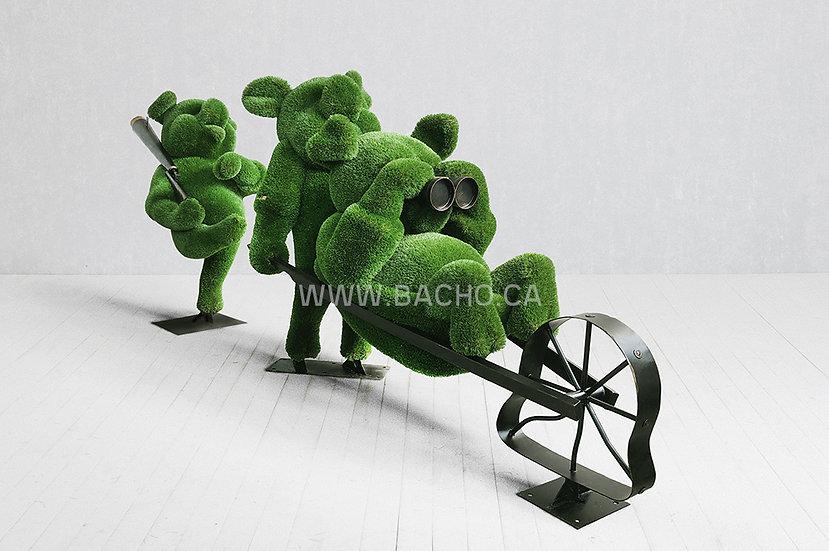 Three Little Pigs - 2.10 x 2.90 x 1.20 /2.10 x 1.70 x 1.00 m