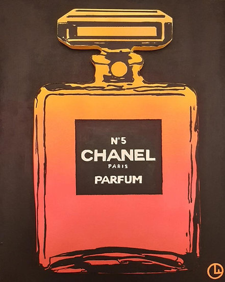 Chanel Bottle (Yellow/Fluo Pink)