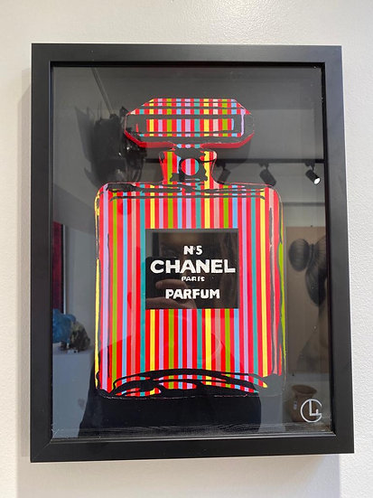 Chanel Bottle Pink - 30 x 40 cm x Acryl on wood