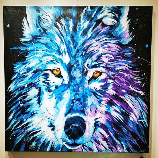 Wolf  By  Nitra - 80 x 80 cm
