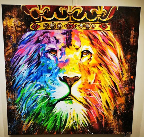King Lion - 120 x 120 cm