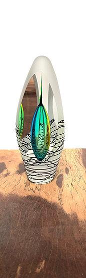 Sold! Art Glass - Green / Zebra  S