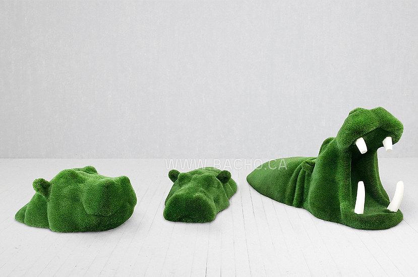 Set of Swimming Hippo's