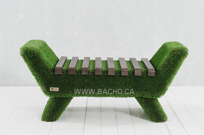 Barocco Bench Dark - 0.53 x 1.20 x 0.48 m