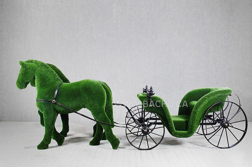 Horse Drawn Carriage - 2.10 x 5.80 x 1.60 m