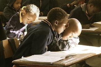 African children in classroom