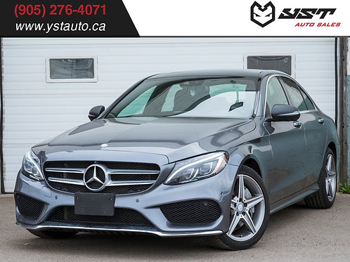 2017 Mercedes-Benz C300 4MATIC | No Accident| Navi| Pano| Blind Spot| 77900KM