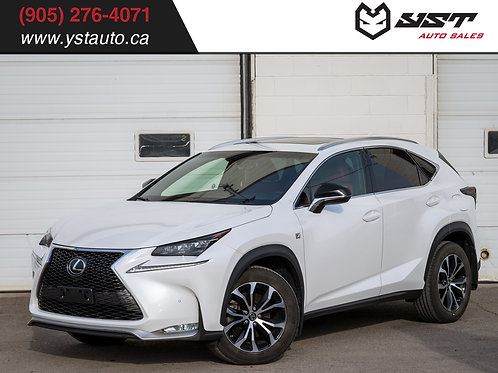 2015 Lexus NX 200t AWD F-Sport | Loaded | Warranty | Navi | BSM |45300KM