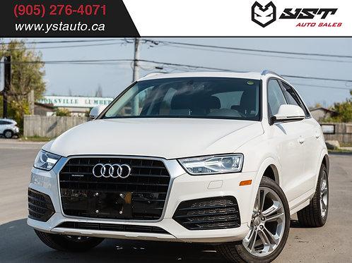 2018 Audi Q3 AWD Progressiv | Sunroof| Leather| Backup CAM| No Accident| 20400km