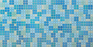 Мозаика Блик синий, мозаика регул, мозаика пвх, листовые панели