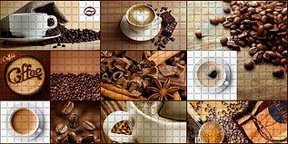 Мозаика Кофейня, мозаика регул, мозаика пвх, листовые панели