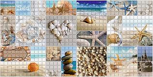 Мозаика Морской берег, мозаика регул, мозаика пвх, листовые панели