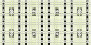 Мозаика Орнамент зеленый, мозаика регул, мозаика пвх, листовые панели
