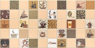 Кофе с молоком бежевый, мозаика регул, мозаика пвх, листовые панели