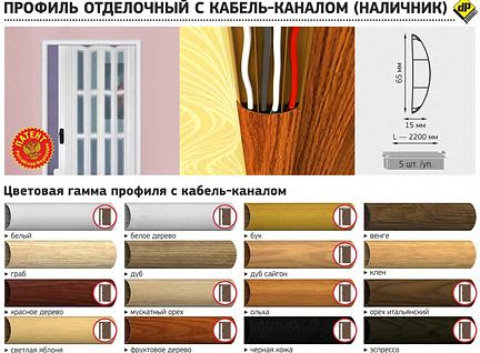 наличник ПВХ, наличник для дверей, кабель-канал, профиль отделочный, профиль ПВХ, наличник с кабель-каналом, Декопласт, наличник Декопласт