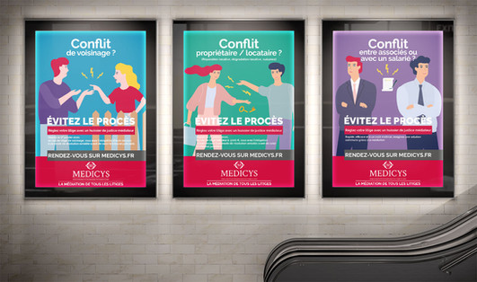 Campagne d'affichage Medicys