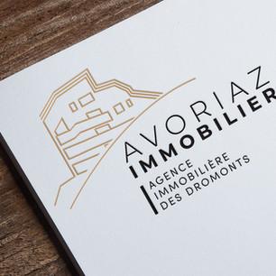 Création du logo Avoriaz Immobilier