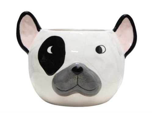 Frenchie Ceramic Planter