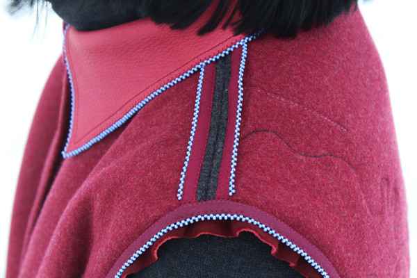 our bodies are stitched with 193 years of diasporic love (shoulder detail), 2021.