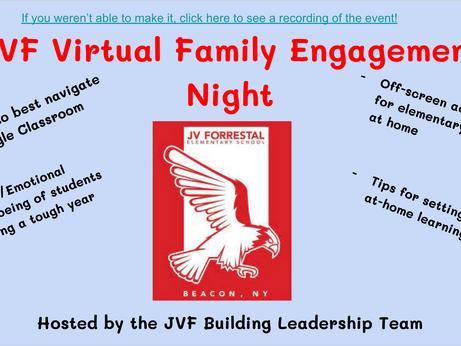Virtual Family Engagement Night