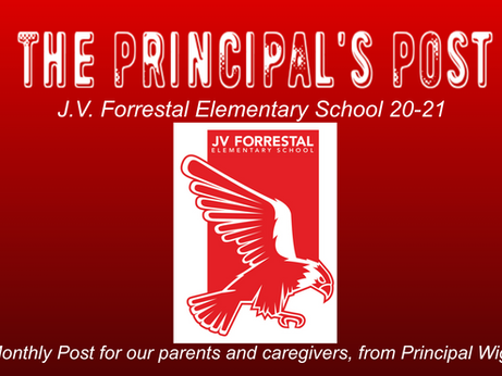 Principal Wiggins's Monthly Post: April