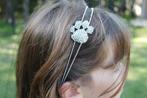 Rhinestone Bear Paw headband
