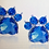 Thumbnail: Rhinestone Blue Paw Earrings