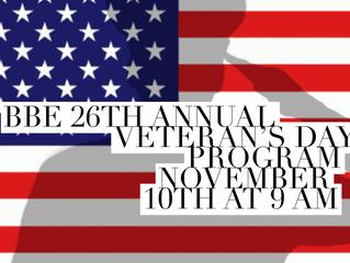 BBE's Veteran's Day Program