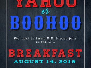 YAHOO or BOOHOO Breakfast