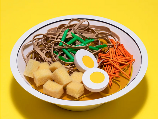 Kyle Bean crafts mouth-watering mixed media meals during lockdown