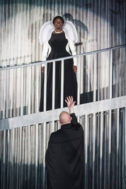 "Chris Sanders and Luke Longacre in ""Mary Stuart"""