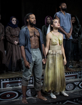 "Yusef Seevers and Tia Laulusa in ""The Iphigenia Project"""