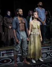 """Yusef Seevers and Tia Laulusa in """"The Iphigenia Project"""""""
