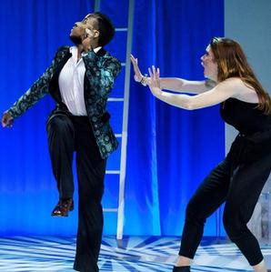 "Yusef Seevers and Lindsay Ryan in ""Tartuffe"""
