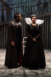 """Yusef Seevers and Chris Sanders in """"Mary Stuart"""""""