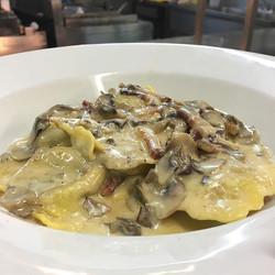 Today special #homemade #porcini #raviol