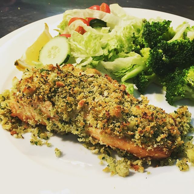 Today special #breadcrusted #salmon with