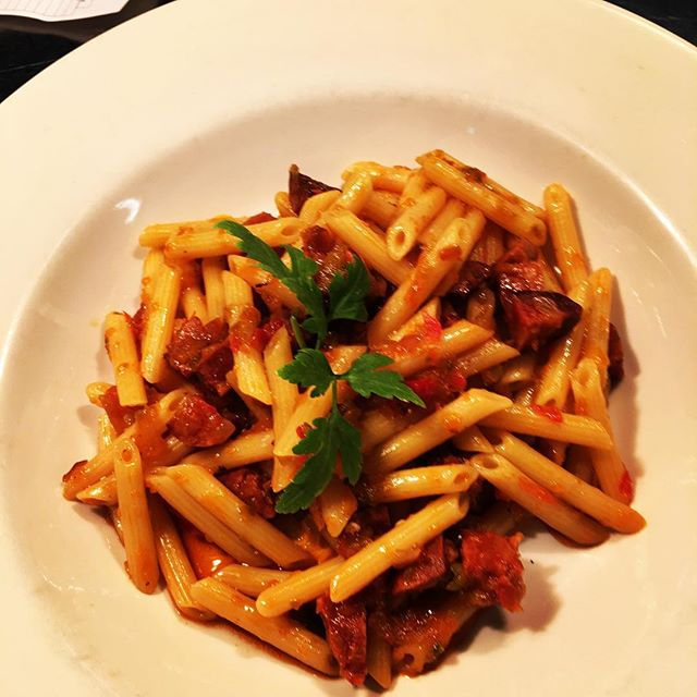 Special of day #pennepasta #spicy #salam